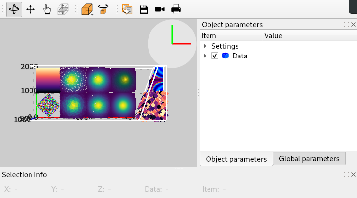 SceneWidget: 3D data viewer widget — silx 0 11 0 documentation