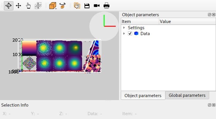 SceneWidget: 3D data viewer widget — silx 0 11 0 documentation